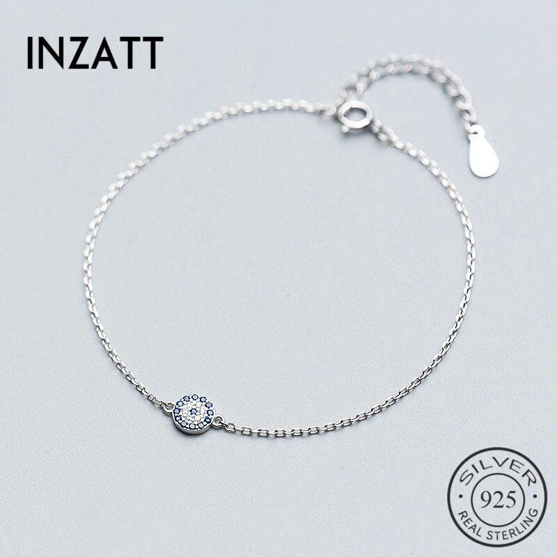 Inzvolo pulseira talisman, pulseira azul, olhos real 925 prata, acessórios para mulheres, boêmio, joia fina, presente