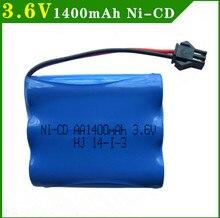 1 Pcs 3.6V Batterij Oplaadbare 1400Mah Ni-Cd Batterij Nicd Aa 3.6V Pack 1.2V 1500Mah Batterijen Voor Rc Cars 5563A 3.6V Speelgoed