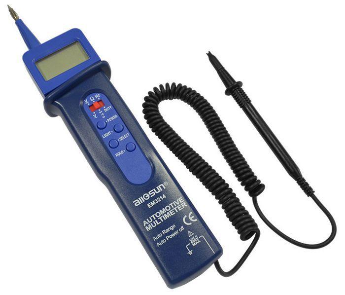 Multímetro Digital para bolígrafo EM3214, multímetro multifuncional con luces.