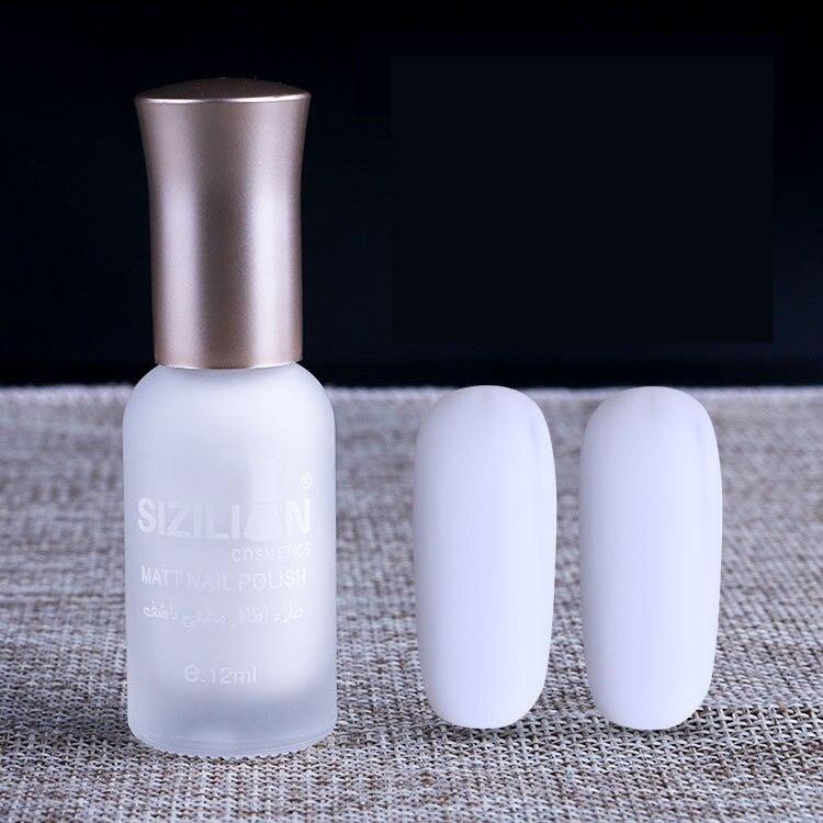 1 Bottle 12ml White Matte Dull Fast-dry Nail Polish Manicure Nail Art Varnish Lacquer Nail Color