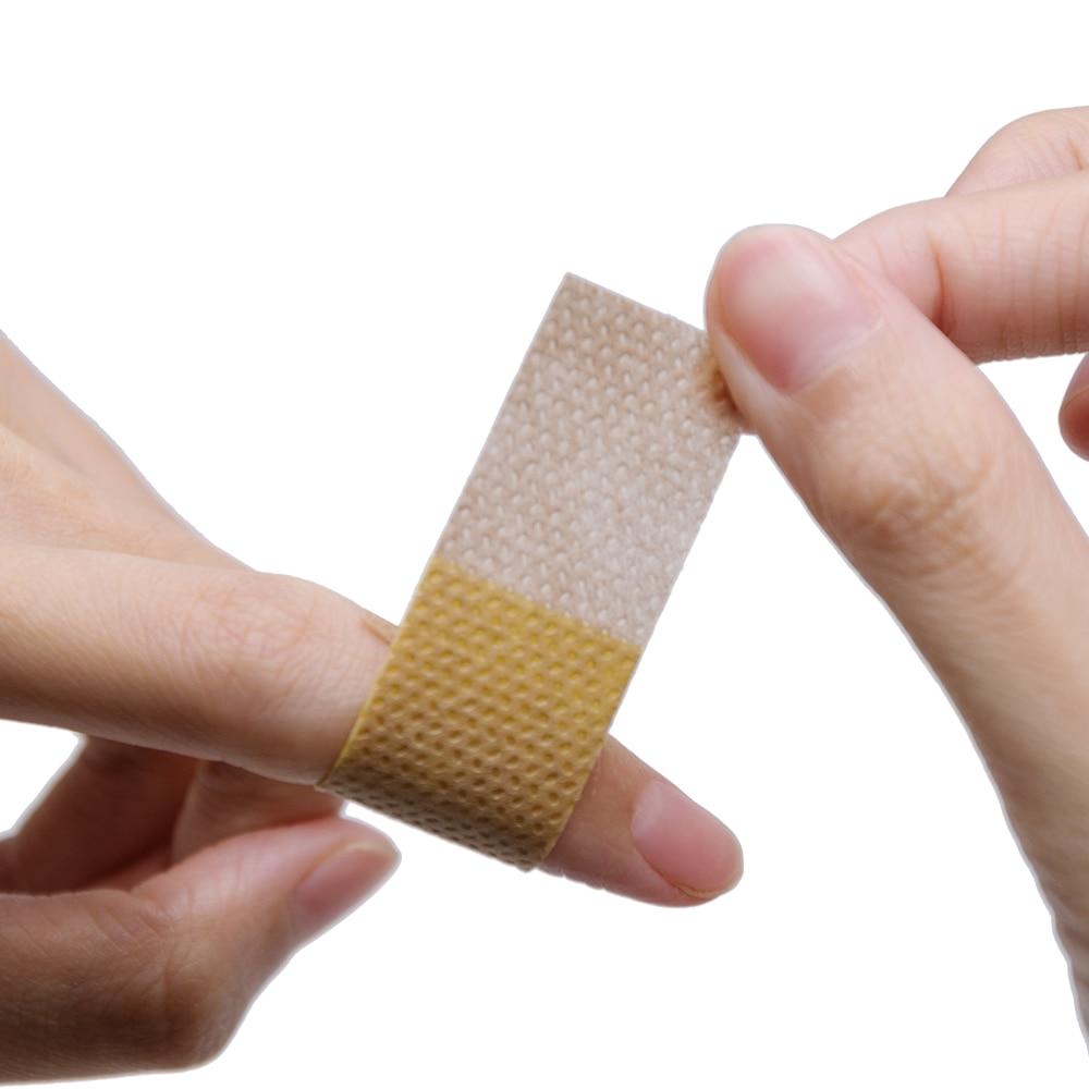 Купить с кэшбэком 50pcs/lot New 2019 Band-Aid Brand Flexible Fabric Adhesive Bandages For Minor Wound Care Waterproof Breathable Bandage Adhesive