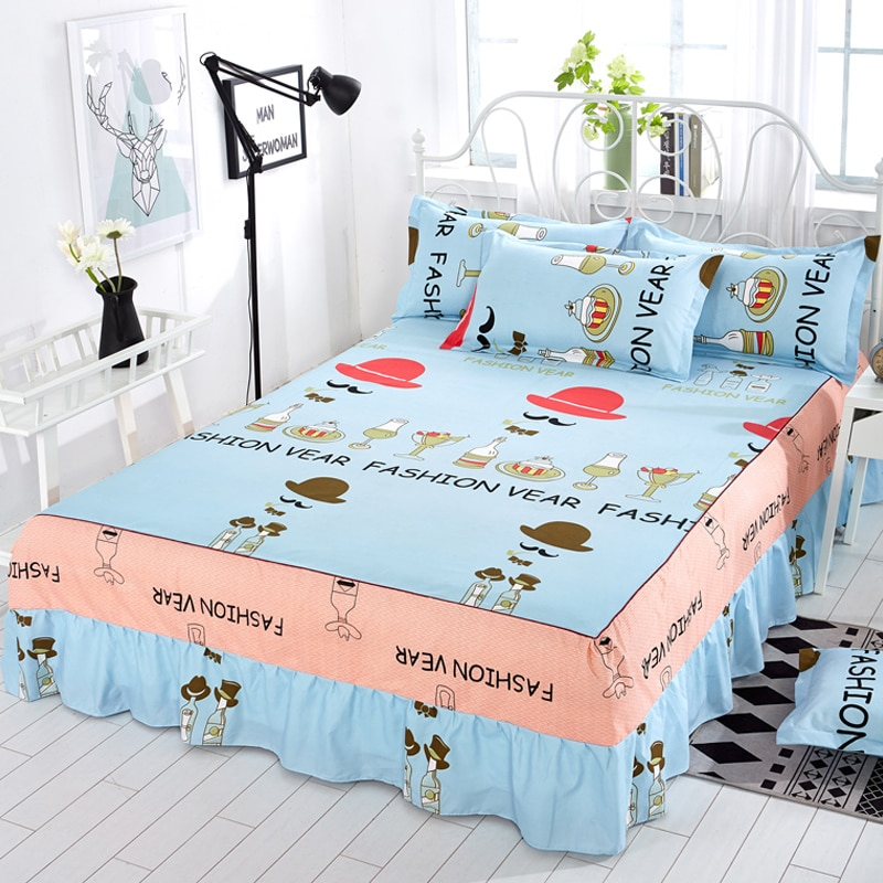 Bed rock piece princess bed linen equipped  1.2 / 1.5 /1.8/ 2.0 meter Bed skirt