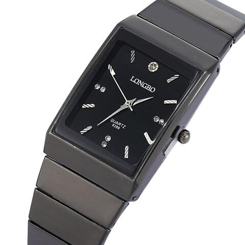 トップ販売! Longbo腕時計女性トップブランドの高級軍腕時計フル鋼防水レロジオmasculino