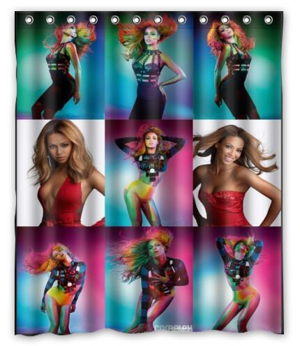 Custom Sexy Beyonce Shower Curtain Polyester Fabric Waterproof Bath Curtain Bathroom Home Decor Size 150x180cm L-92