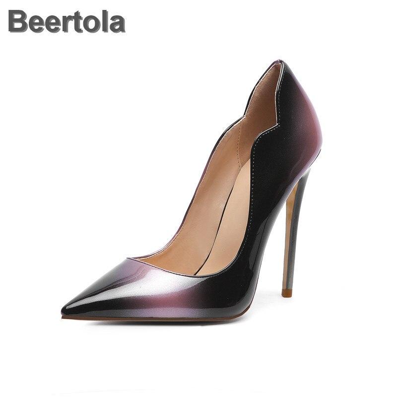 Zapatos de tacón Kate para mujer, zapatos de tacón con punta estrecha, zapatos de boda superaltos, zapatos de fiesta de colores mezclados para mujer
