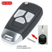 Keyecu porte-clés à télécommande amélioré   Puce 315MHz 4D60 pour Chevrolet Optra FCC ID