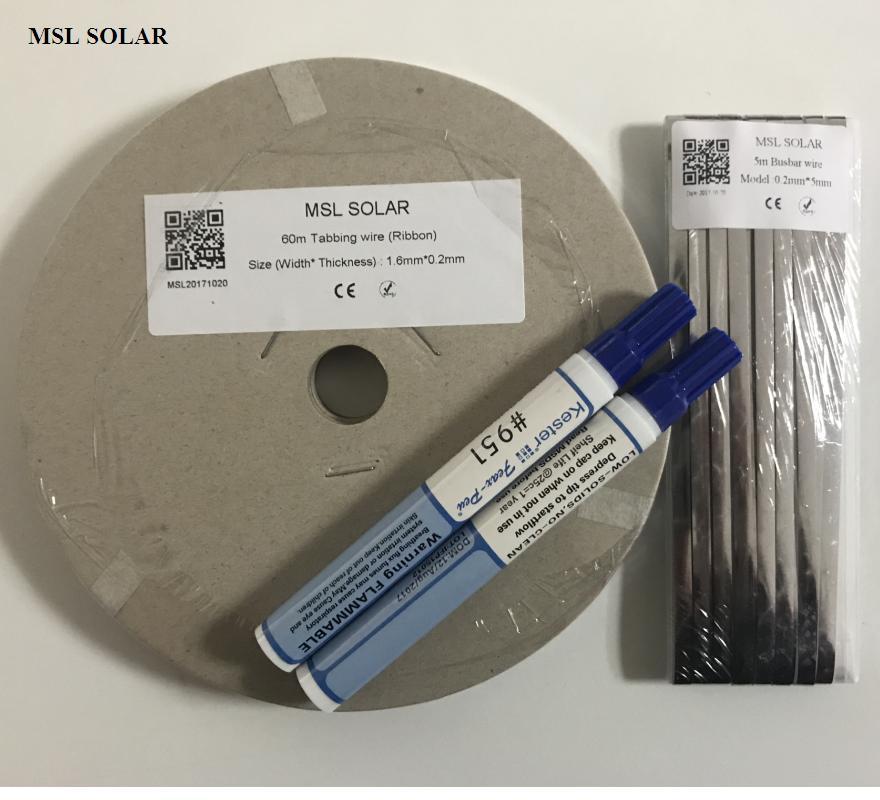 ALLMEJORE 200Feet Solar cell Tabbing wire + 15feet Solar Busbar wire +2pcs flux pen .Tin-plate Copper strip for diy solar panel.