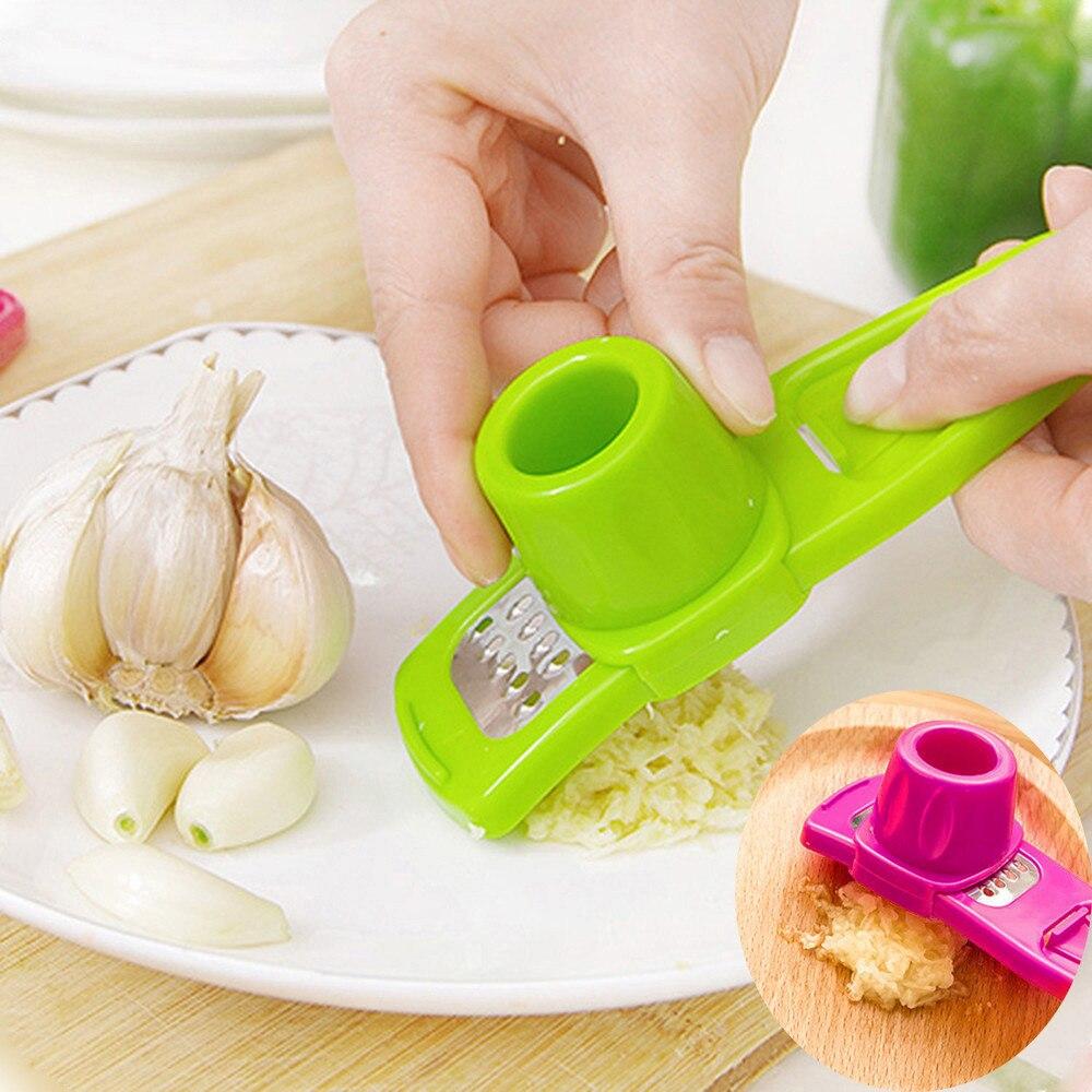 1 ud. Rebanador prensa de ajo caliente Rosa verde multifunción Acero inoxidable prensado cortador práctico herramienta de cocina Nuevo #25