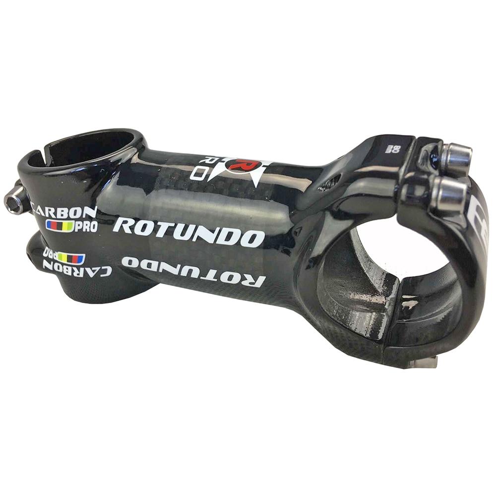 Rodundo, piezas de bicicleta de carbono para ciclismo, vástago de bicicleta, bicicleta de carretera, piezas de bicicleta de montaña, 1-1/8 28,6mm 70-110mm