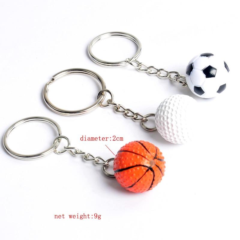 Golf de fútbol baloncesto llavero de alta calidad fútbol llavero sleutelhanger llaveros para hombre creativo
