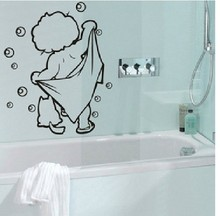 Pegatinas de pared de burbujas de baño de ducha de amor de bebé adorable % pegatinas para puerta de vidrio cartel de calcomanías de ducha para niños