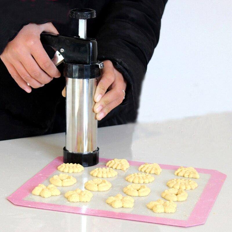 Juego de prensa para galletas, máquina para hacer galletas, decoración para Tartas, 13 moldes de presión, 7 boquillas para manga pastelera, utensilios para galletas