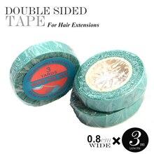 Bande adhésive à double face avec superbande   100 pièces 0.8cm/1cm * 3 mètre, bande fine pour extension capillaire, cheveux humains