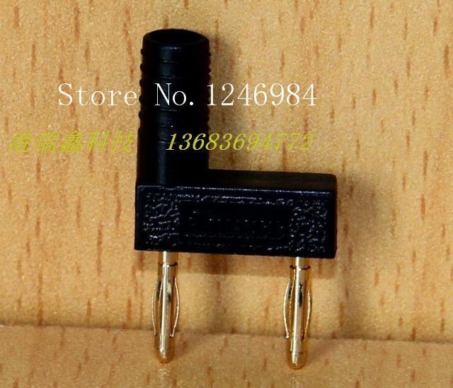 [SA] M2 مزدوجة مطلية بالذهب الموز التوصيل الأسود اختبار رئيس موصل A-6102-50 قطعة/الوحدة