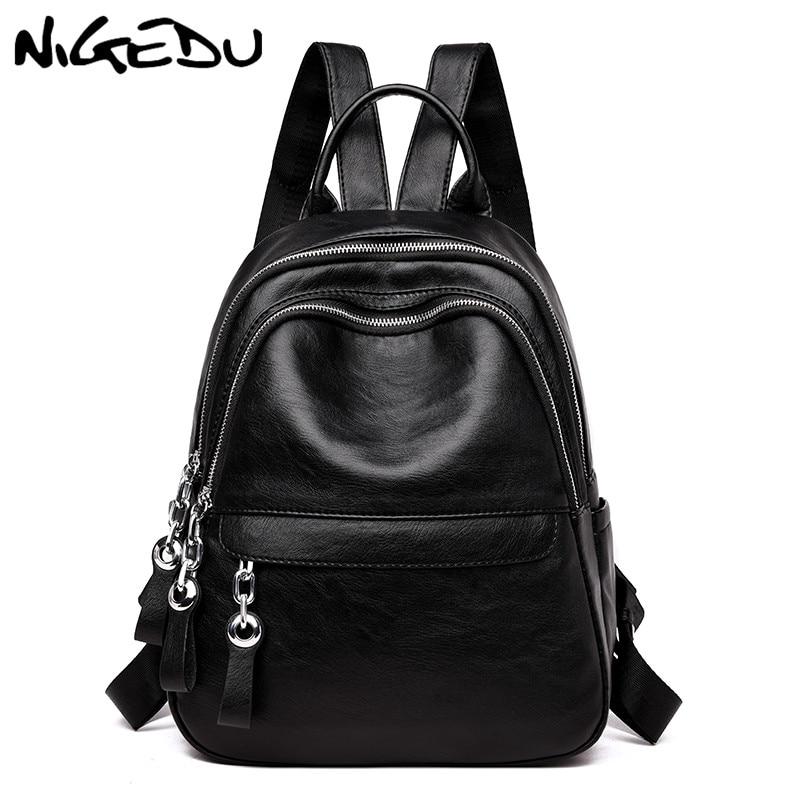 Casual Women backpack big capacity High quality PU leather Student backpack for girls teenagers lady Travel bag school bag bolsa