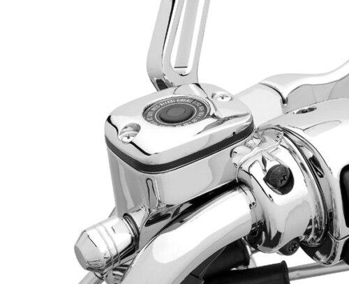 Couvercle de frein noir chromé de cylindre   Pour HARLEY Dyna Softail Fat boy Road King Touring Trike, housse de pompe de frein