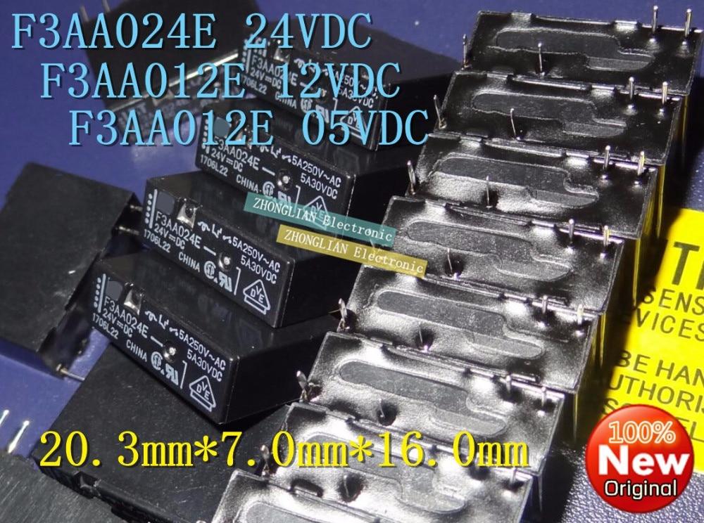 100 قطعة/الوحدة تتابع F3AA024E 5 فولت 24 فولت F3AA012E الأصلي حقيقية F3AA005E 12 فولت 5 فولت/12 فولت/ 24 فولت