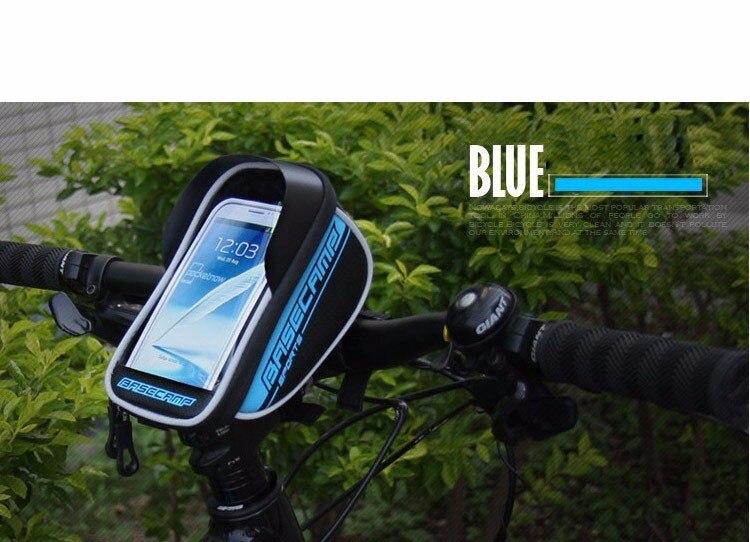 Soporte de teléfono para bicicleta de montaña, soporte para teléfono móvil, soporte para iPhone Xs Max XR 8 plus, bolsa impermeable para bicicleta GPS de 5,5 pulgadas