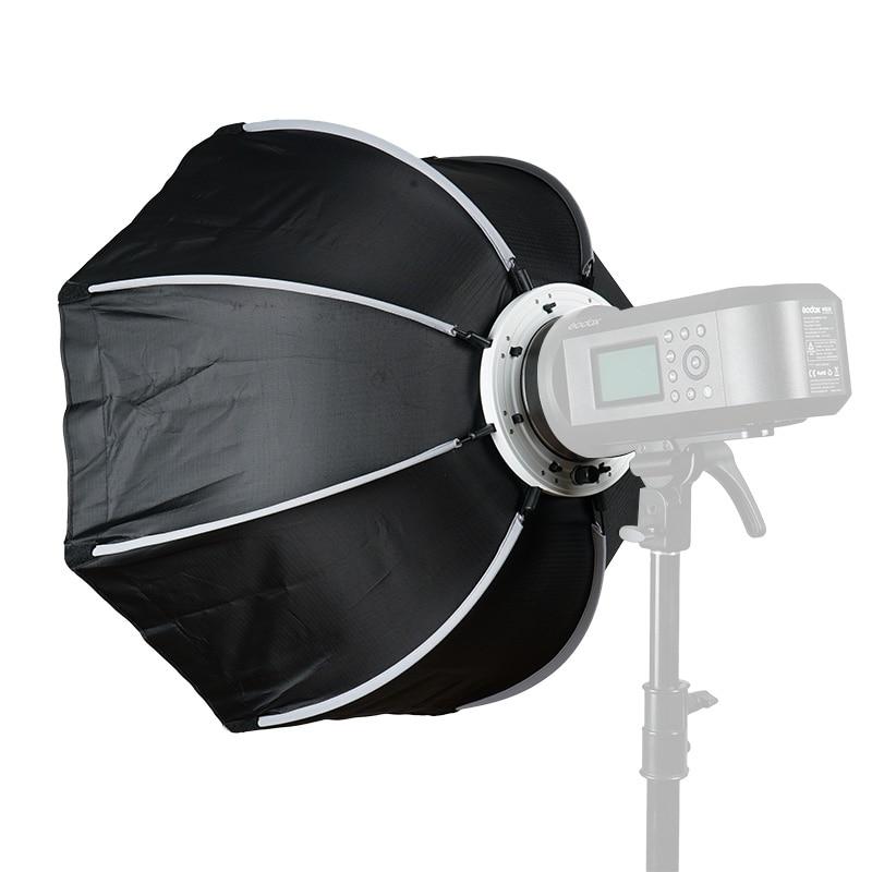 Triopo 65cm portátil Bowens Mount Octagon paraguas Softbox + bolsa de transporte para flash de estudio fotográfico fotografía al aire libre Soft Box