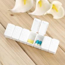 1Pc ou 2 pièces une semaine 7 jours petit médicament pilule support de la boîte hebdomadaire tablette Mini pilbox conteneur organisateur de stockage