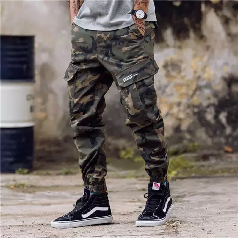 Мужская модная уличная одежда, джинсы для бега, летние повседневные штаны с завязками на щиколотке в европейском стиле, 2019