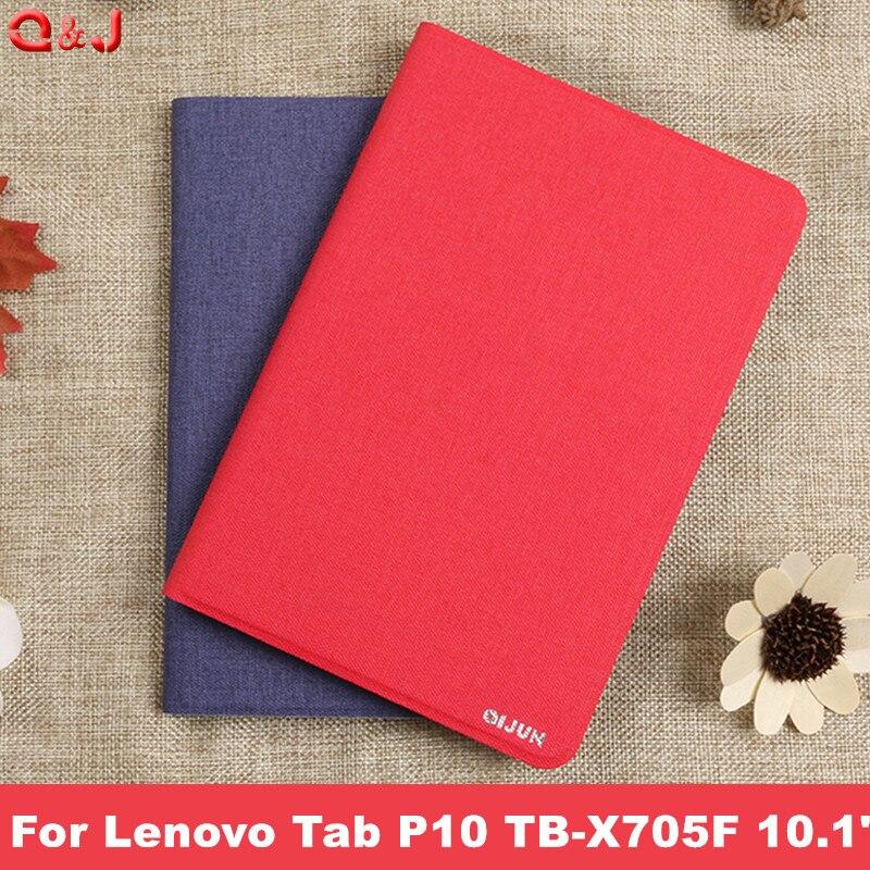 "Capa para lenovo tab p10 TB-X705F TB-X705L, capa inteligente para lenovo tab p10 capa de 10.1"""