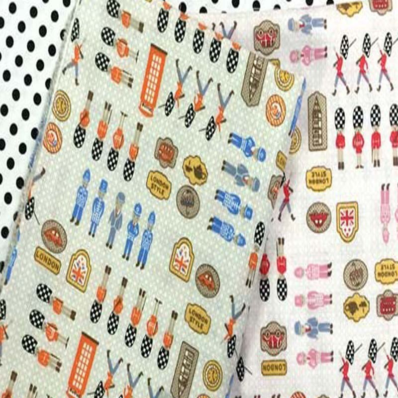 Bastante 2 uds 40x50cm rosa azul Reino Unido Royal guardias Paquete de tela de algodón estampado para costura DIY