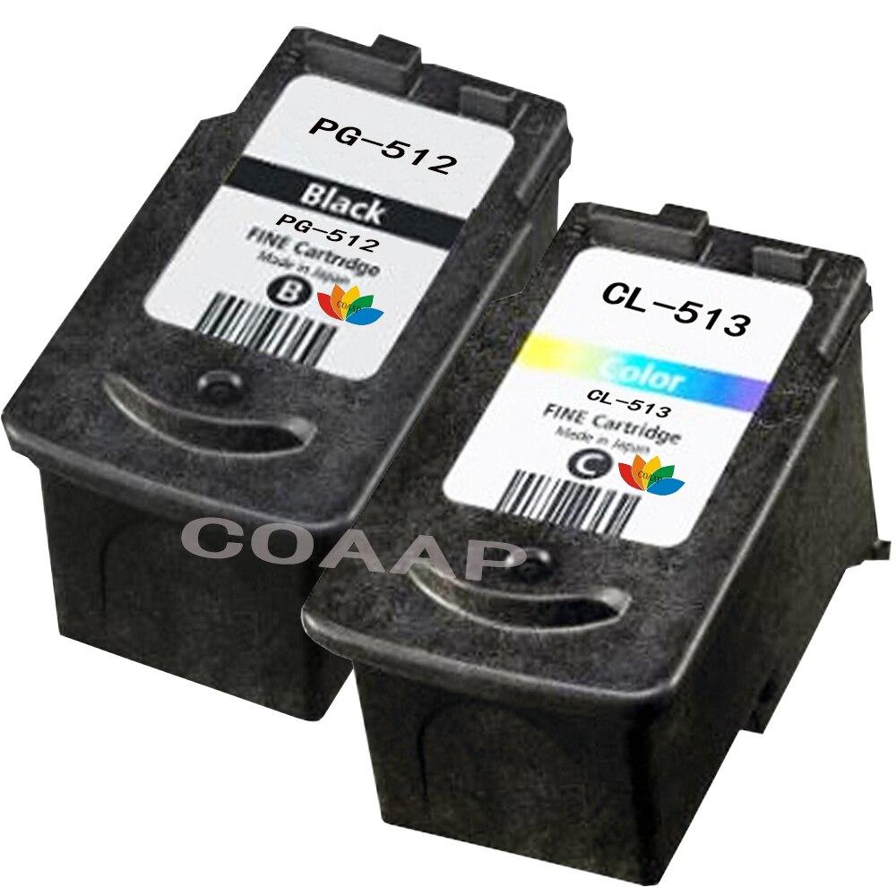 2PK Совместимый картридж CANON 512 513 для принтера Canon Pixma MP280 MP282 MP330 MP480 MP490