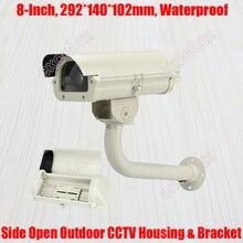 "8"" CCTV Camera Housing & Bracket 292x140x102mm IP66 Waterproof Wall Mount Outdoor Enclosure for Zoom Box Bullet Security Camera"