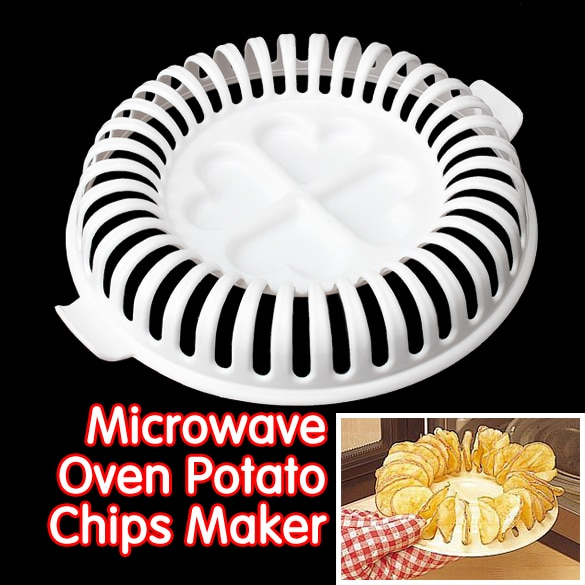 DIY baja calorías microondas horno patatas fritas sin grasa herramientas para hornear de cocina hornear platos y sartenes patatas fritas estante E5M1