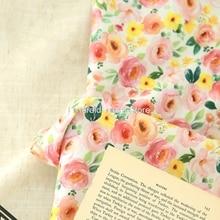 South Korea imported pastoral style, digital printed fabric, handmade DIY clothing dress baby clothe