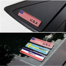 1pcs Patriotic Flag Badge Car Emblem Sicker For Peugeot 307 206 308 407 207 2008 3008 508 406 208 Mazda 3 6 2 CX-5 CX5 CX-7