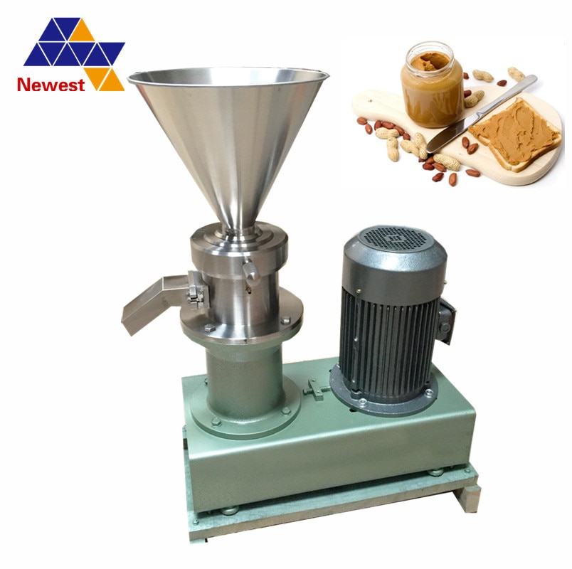 Proveedor confiable de China, máquina para hacer mantequilla de maní/trituradora de maní, fabricante de mantequilla de anacardo, triturador de alimentos, molino coloide