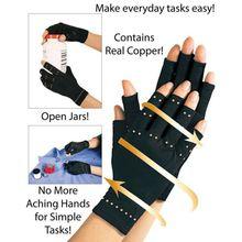 1 paire 2017 nouvelle marque cuivre mains arthrite gants Compression thérapeutique hommes femme Circulation Grip