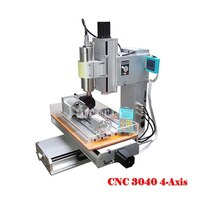 Small 3040 4 Axis CNC Engraving Machine Column Type Engraver Machine Desktop DIY Woodworking Engraver Machine 1500W 110V/220V