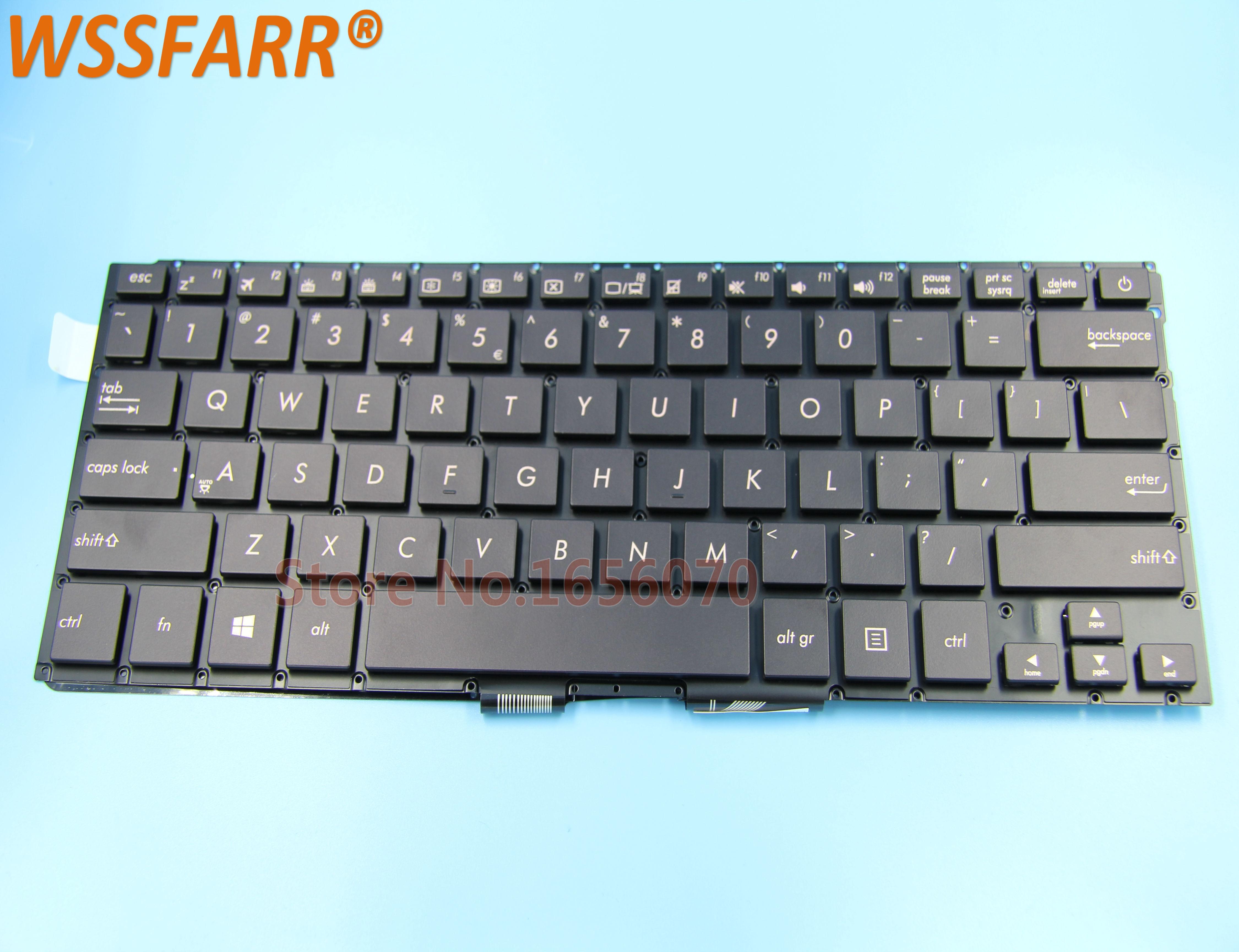Новая клавиатура для ноутбука Asus ZenBook UX310 UX310UA UX310UQ U4000 U4000U U4000UQ серии Black US с подсветкой