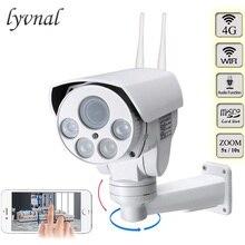 4G 3G tarjeta SIM Wifi cámara PTZ al aire libre HD 1080P Cámara inalámbrico IR 50M 5X 10X Zoom enfoque automático CCTV cámara IP Wifi de Audio