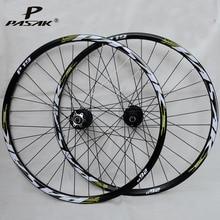 Llanta de bicicleta MTB 29 27,5 26 ruedas 32 hoyos freno de disco de montaña ruedas de bicicleta seis orificios delante de 2 trasera 4 rodamiento sellado 5mm 9mm x 100mm