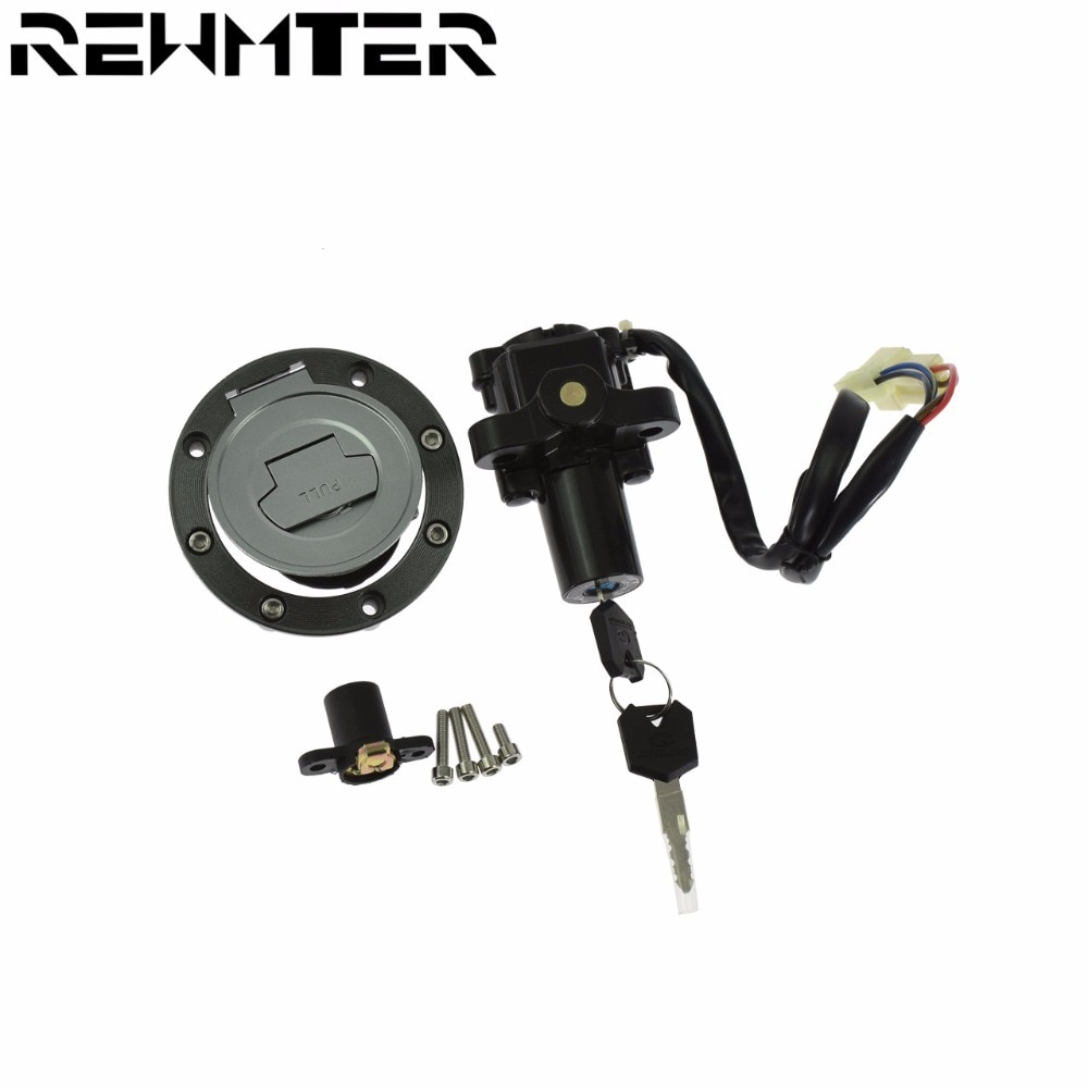 Interruptor de bloqueo de ignición para motocicleta, tapa de combustible, juego de llaves de bloqueo para Yamaha FJ13 FJ1300 01-16 para YAMAHA FZ6R 04-16