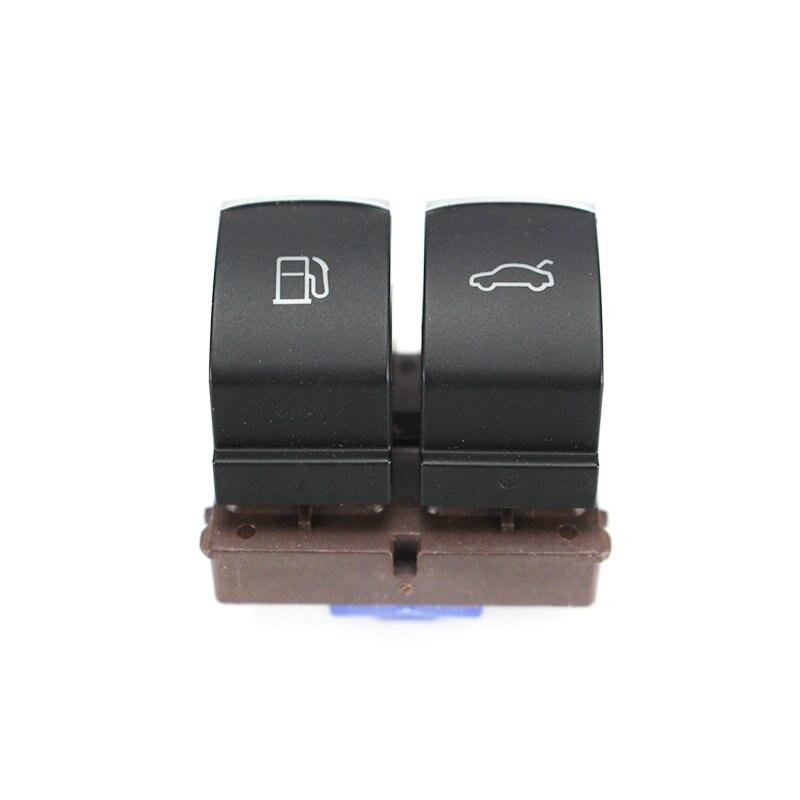 Interruptor de puerta de combustible cromado Botón de apertura de maletero para Passat B7L CC para 35D 959 903 3C0 959 903 B