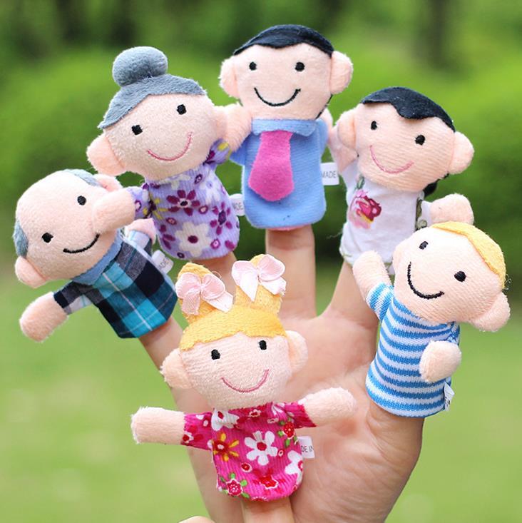 Regalo de recuerdo para fiesta de Navidad para niños, marionetas de dedo familiares, mini juguete de felpa para bebés, marionetas de dedo de cuento de hadas para niños y niñas, accesorios para escenario