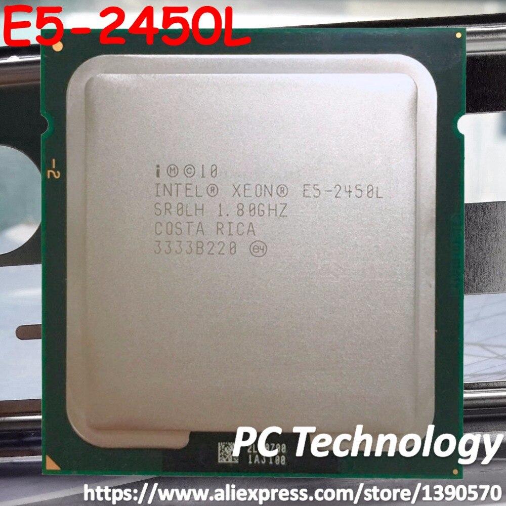 Processador original intel xeon E5-2450L 1.80 ghz 8-core 20 mb smartcache E5-2450 l lga1356 70 w cpu frete grátis e5 2450l