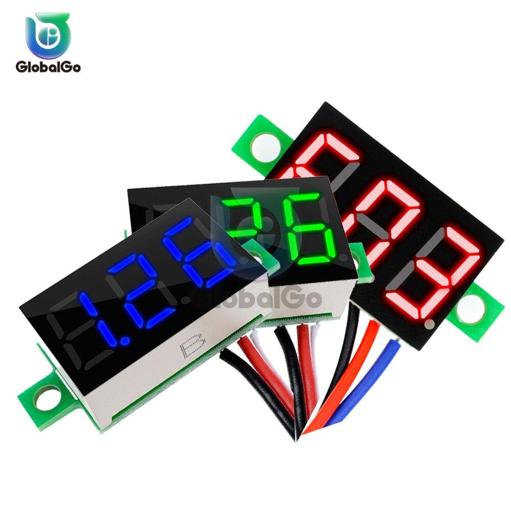 0.36 inch 3-Wire Voltmeter DC 0-30V Super Mini LED Digital Car Voltmeter Voltage Volt Panel Meter battery monitor 3-Digital