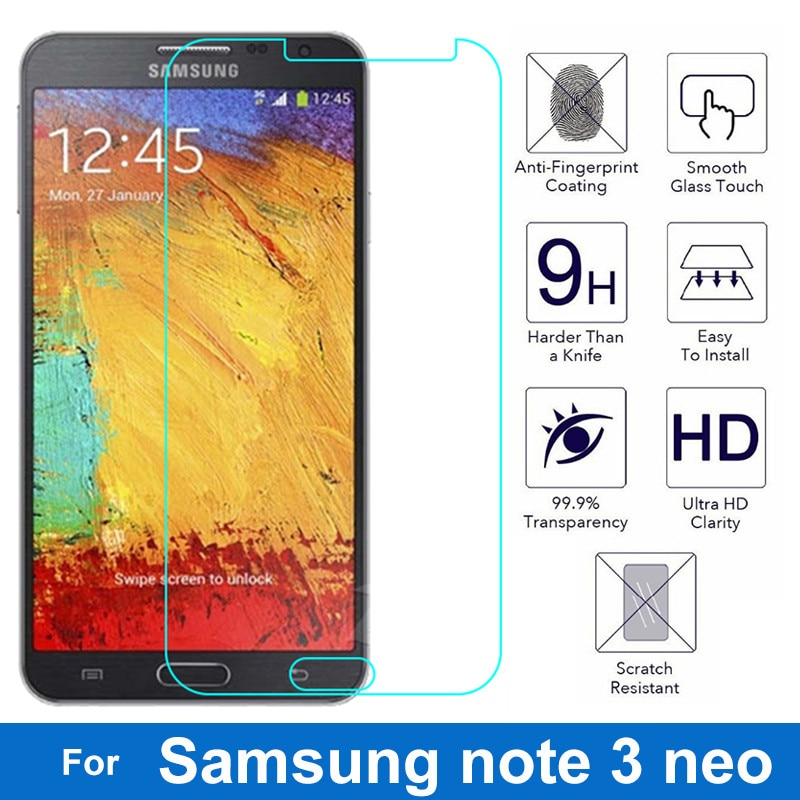 0.26mm 2.5D Screen Protector On Phone Safety Protective Tempered Glass Film For Samsung GALAXY note
