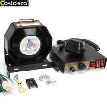 LARATH voiture alarme sirène amplificateur 200W 8 son haut-parleur Police feu sirène klaxon avec PA MIC système Module antivol dispositif noir