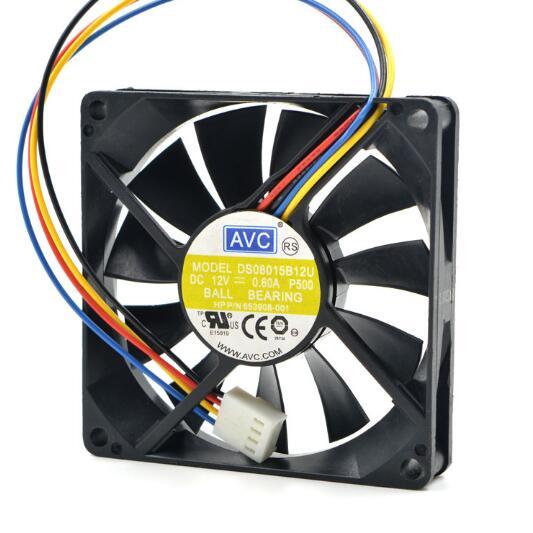 AVC DS08015B12U 80*80*15 12 V 0.60A 4 linie unterstützung PWM chassis computer lüfter