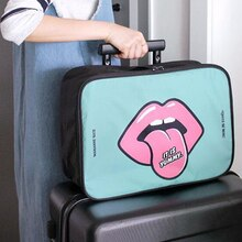 Rupoutine voyage dessin sac cosmétique grande capacité cas de maquillage Portable salle de rangement organisateur sacs sac de maquillage étanche