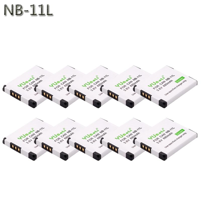 10 uds/lote DVISI NB-11L NB-11LH batería para Canon PowerShot A2300 es A2400 es A2500... A2600... A3400 es A3500 es ELPH 110 HS