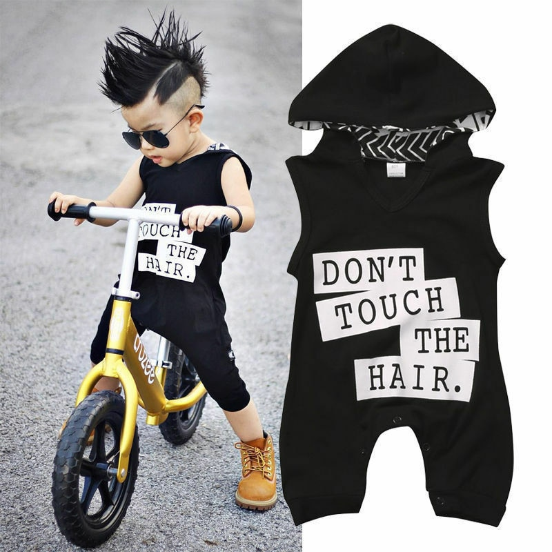 Newborn Girl Boy Sleeveless Hooded Rompers Autumn Summer jumpsuits 2019 Toddler Baby Kids Boy Outfit Clothes Cotton Romper
