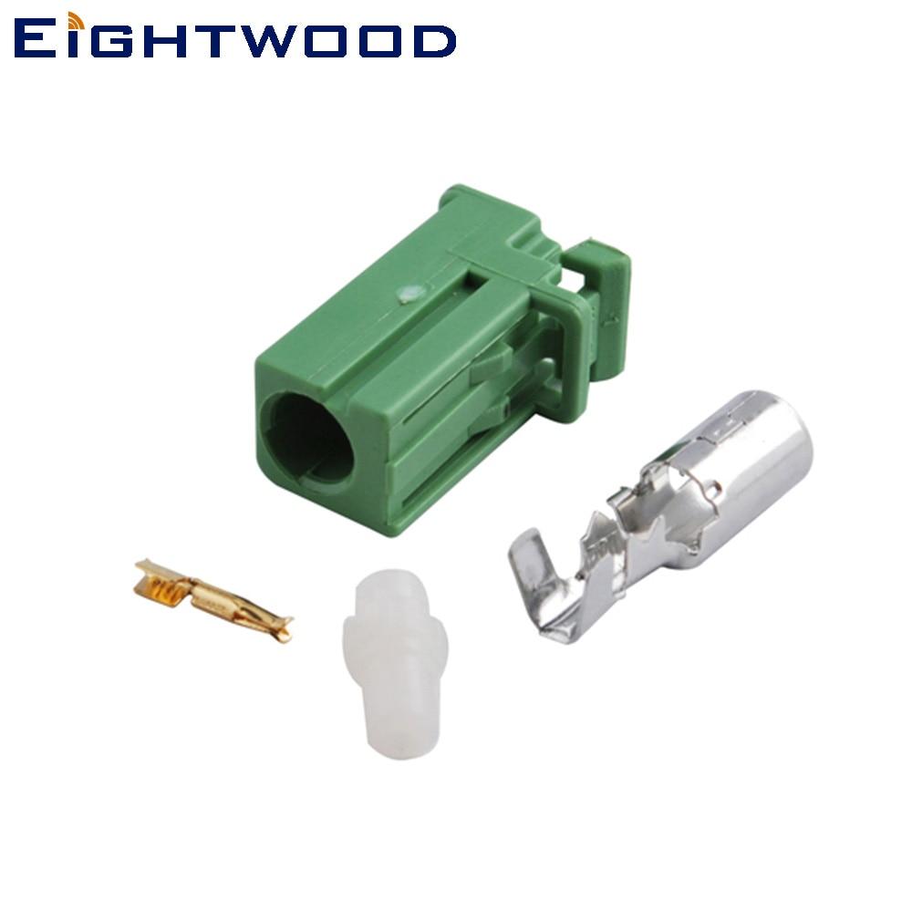 Eitwood-conector Coaxial RF para coche, Conector de crimpado AVIC verde, adaptador RF...